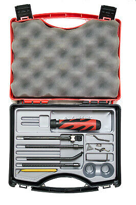 Shaviv Kit KPA Plastic Deflashing Set with Mango II Handle & Nice Case 6 Blades