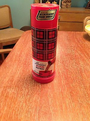 Vintage Aladdin's Plaid Thermos. Set of Two.  Made in USA