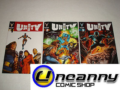 Unity 1 2 3 Complete Comic Lot Run Set Valiant Variant Collection NM