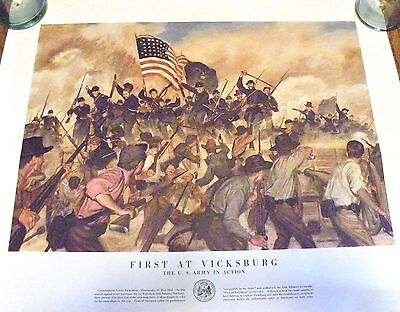 Department of The Army Poster-Civil War Vicksburg 1863-U.S. Army in Action-1955