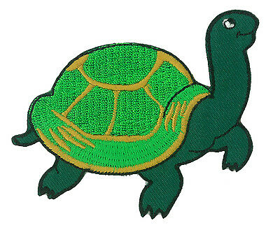 Patch écusson patche Tortue thermocollant applique DIY brodé