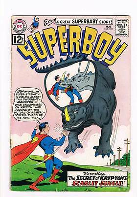 Superboy # 102 The Amazing Tots of Smallville! grade 4.5 DC Silver Age !