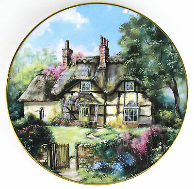 3 COLLECTOR PLATES ENGLISH COUNTRY COTTAGES Hamilton GAMESKEEPERS GINGER +