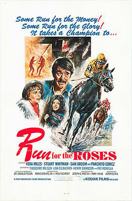KENTUCKY DERBY/RUN FOR THE ROSES/HORSE RACING orig 1977 movie poster VERA MILES