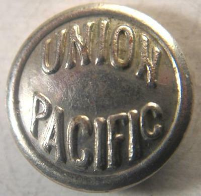 Union Pacific Railroad Plated Brass Uniform Button American Railway Supply Vintg