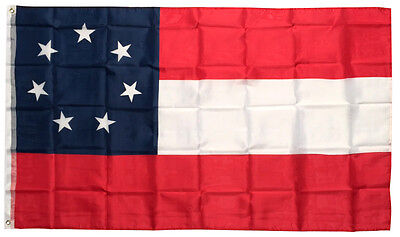 3x5 Ft 7 Stars CSA First National American 1st Southern States Flag Polyester b