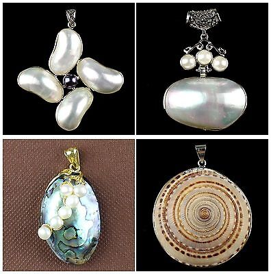 A6673 Purfle kinds of shape shell pendant,DIY necklace accessory wholesale