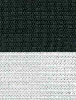 Double Knitted Non Roll Elastic Remnants Black White 20Mm 25Mm 50Mm Sewing