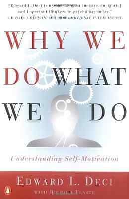 Why We Do What We Do - Deci, Edward NEW Paperback 1 Jan 1997
