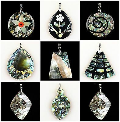 A6711 Fashion shell & abalone shell pendant,DIY necklace accessory wholesale