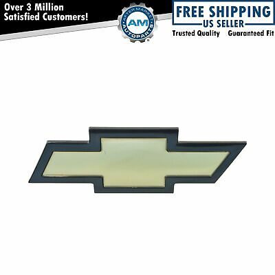 OEM Bowtie Emblem Grille Mounted Gold with Black Border for 03-15 Chevy Express