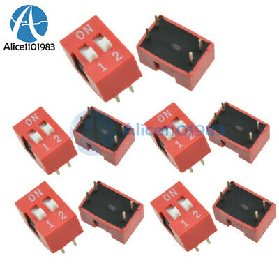 10Pcs Slide Type Switch Module 2.54mm 2 Position Way DIP Red Pitch