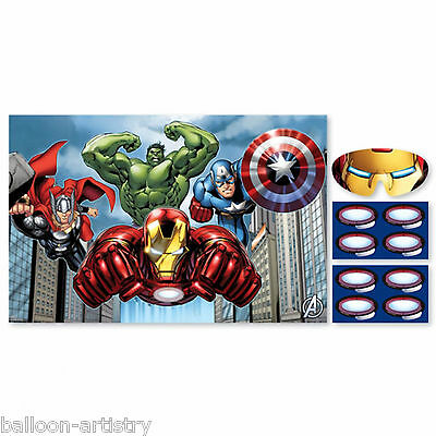 10 Piece Marvel's AVENGERS HEROES Children's Party Iron Man Core Poster Game