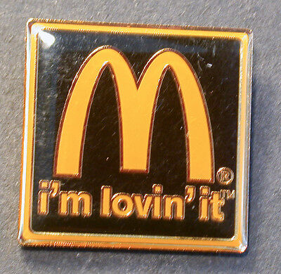 Pin Mcdonald´s  Grosser 3,5 Cm I´am Love ´it Glasierter Pin  (An2405)