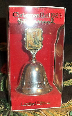 Estate Sale Vintage Hummel 1983 Metal Christmas Bell Ars Edition NEW in Box