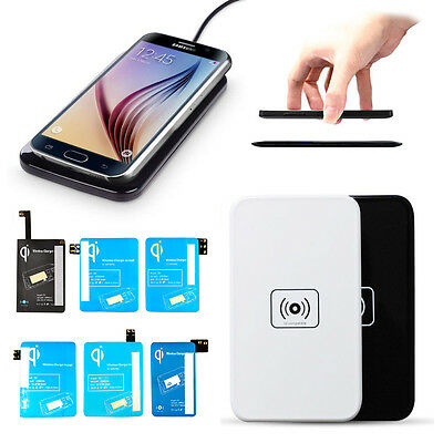 Qi Wireless Charging Pad & Receiver Kit For Samsung Galaxy Note 4 S5/S6/S7/S8/S9