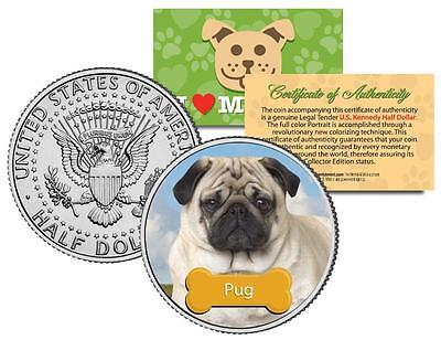 "PUG U.S. JFK KENNEDY HALF DOLLAR ""The Dogs"" COIN"