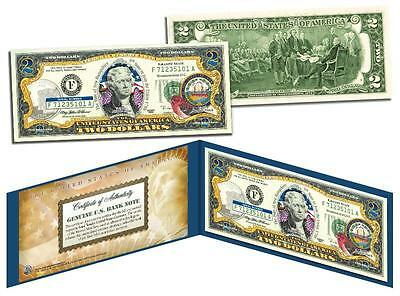 NEW HAMPSHIRE Statehood $2 Two-Dollar Colorized US Bill NH State *Legal Tender*