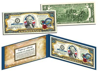 SOUTH DAKOTA Statehood $2 Two-Dollar Colorized U.S. Bill SD State *Legal Tender*