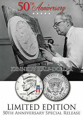 2014 Kennedy U.S Half Dollar Coin *50th ANNIVERSARY SPECIAL RELEASE LOGO* P MINT