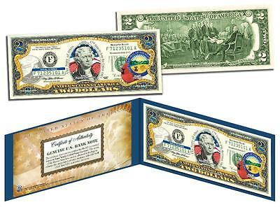 OHIO Statehood $2 Two-Dollar Colorized U.S. Bill OH State *Genuine Legal Tender*