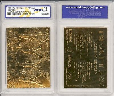 Beatles * Abbey Road * Album 23Kt Gold Card - Graded Gem-Mint 10