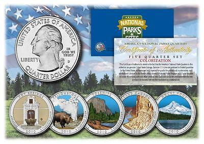 2010 Colorized National Parks America the Beautiful Coins *Set of all 5 Quarters