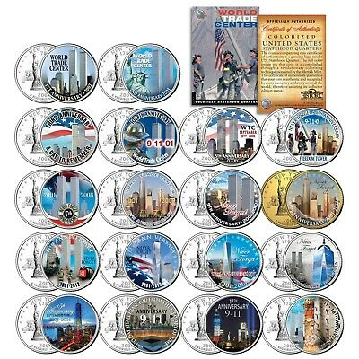* COMPLETE SET * WTC Anniversary 9/11 US MINT NEW YORK STATE Quarter 15-Coin Set