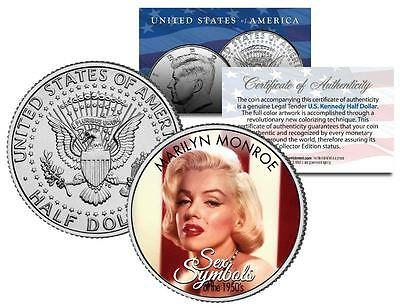 MARILYN MONROE * 1950s Sex Symbol * Colorized JFK Kennedy Half Dollar U.S. Coin