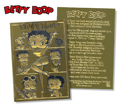 BETTY BOOP Officially Licensed Sculptured Genuine 23K GOLD Card