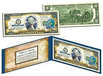 TEXAS Statehood $2 Two-Dollar Colorized US Bill TX State *Genuine Legal Tender*