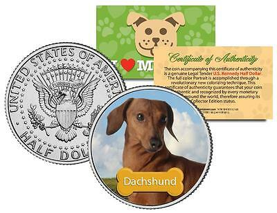 "DACHSHUND U.S JFK KENNEDY HALF ""The Dogs"" COIN"