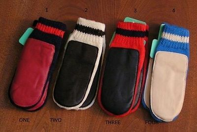 Kids Winter Leather Mittens Fits 6-7 Yrs Old's 4 Colors
