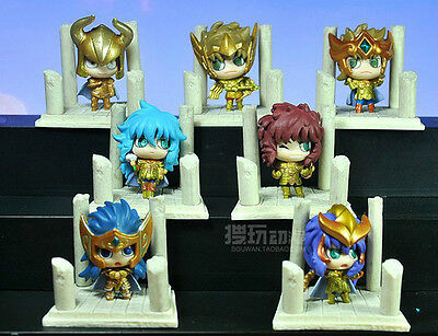 Free Shipping 7PCS Saint Seiya Mini Toy Figure Figurine Doll Vol.2 New in Box