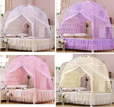 Twin Size PURPLE Lavender Ruffled canopy bed cover top ...