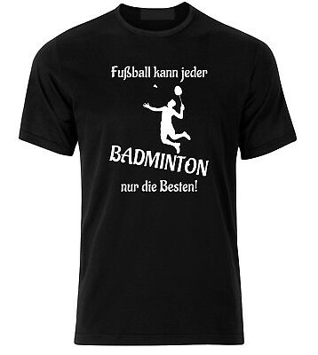 T-shirt mit Flockdruck Badminton Fun Shirt