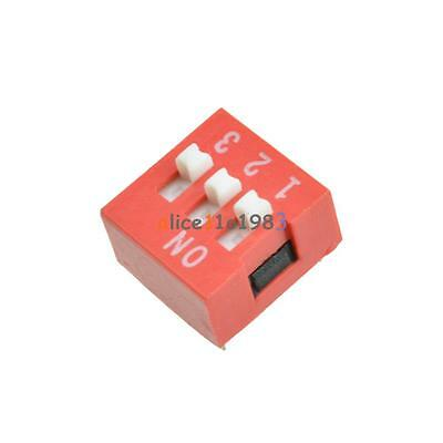 10Pcs Slide Type Switch Module 2.54mm 3-Bit 3 Position Way DIP Red Pitch