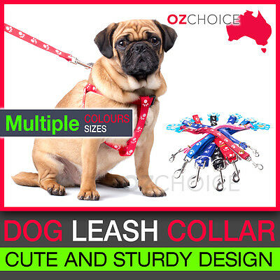 NEW Strong Nylon Pet Dog Puppy Collar Leash Lead Harness strap Rope Adjustable