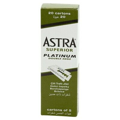 100x Astra Superior Platinum Double Edge Standard Razor Blades **GENUINE**