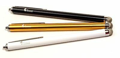 Set of 3 Gold, Black + White Stylus Pen with Knit Fiber Tip for Samsung, iPhone