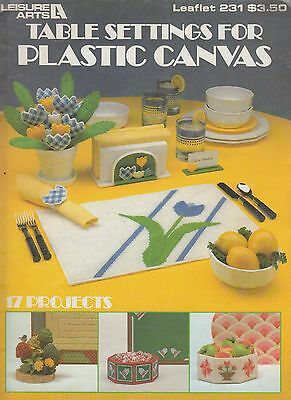 Leisure Arts Table Settings for Plastic Canvas pattern book copyright 1982