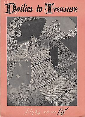 Lily Doilies to Treasure vintage crochet pattern book