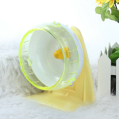 Hamster Mouse Rat Small Pet Running Exercise Wheel Toy+Stand Plastic Silent Mute