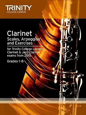 Trinity College Clarinet Scales & Exercises from 2015 - Same Day P+P