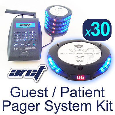 30 Pager Restaurant Guest or Clinic Patient Paging Kit by ARCT