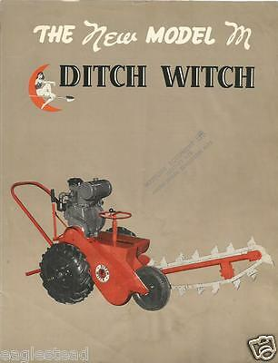 Equipment Brochure - Charles Machine Works - Ditch Witch - Model M c1957 (E2314)