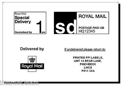 6000 Printed Royal Mail PPI labels ON ROLL HD Permanent