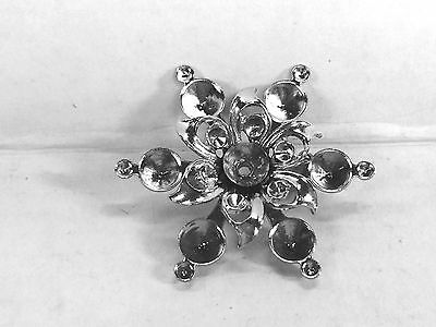 Brooch settings vintage style silver plated Lot of 5