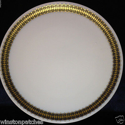 "Heritage Bavaria Germany Arabesque Dinner Plate 10 3/8"" Gold & Cobalt Band"