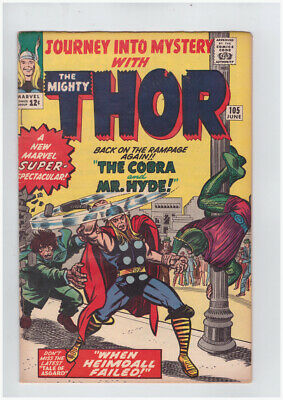 Journey into Mystery # 105 Kirby Thor grade 5.0 - movie super scarce hot book !!